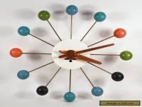 VINTAGE GEORGE NELSON HOWARD MILLER MIDCENTURY MODERN BALL CLOCK ATOMIC RETRO