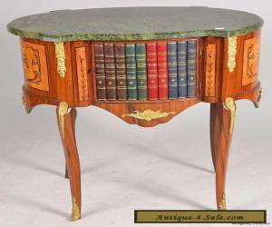 6321:  Vintage French Marble Cabinet Stand Table Louis XV Hollywood Regency for Sale