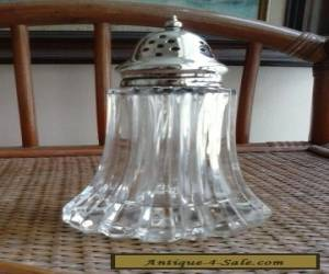 Vintage Silver Plated & Glass Sugar Shaker for Sale