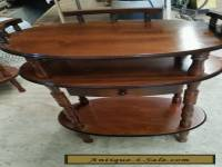 Vintage Wooden Pie Plant Telephone Stand With Drawer 3 Tier Table