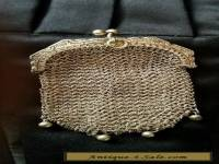 ANTIQUE SILVER FRENCH CHAIN MAIL MESH COIN PURSE