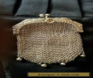 ANTIQUE SILVER FRENCH CHAIN MAIL MESH COIN PURSE for Sale