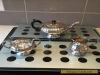 Marlboro Silver Plated Old English Reproduction 3 Piece Tea Set