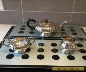 Marlboro Silver Plated Old English Reproduction 3 Piece Tea Set for Sale