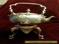 Gorgeous  Silver Teapot with Warmer
