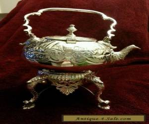 Gorgeous  Silver Teapot with Warmer for Sale