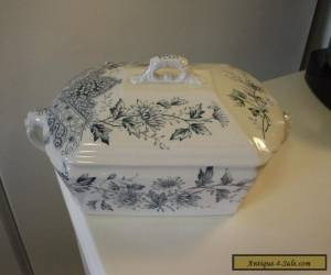 """A. F. & Co. """"Fairy"""" Transferware Aesthetic Transferware Covered Dish for Sale"""
