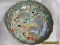 Antique Japanese Meiji Porcelain Saucer plate
