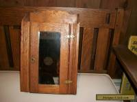 BEAUTIFUL ANTIQUE OAK APOTHECARY MEDICINE WALL CABINET WITH MIRROR
