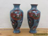 Immpressive Quality a pair Antique/Vintage Old Cloisonne Vase -- Rare