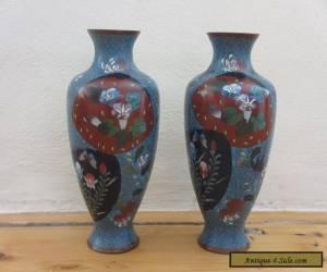 Immpressive Quality a pair Antique/Vintage Old Cloisonne Vase -- Rare  for Sale