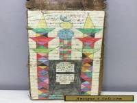 Koran Writing Teaching Old Wood Board Burkina Faso HandmadeI Text