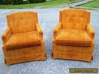 VINTAGE MID CENTURY CLUB LOUNGE CHAIRS- PAIR- WOODMARK ORIGINIALS