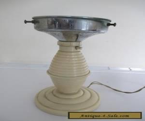 VINTAGE 1930s ART DECO CREAM BAKELITE LAMP BASE for Sale