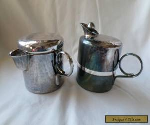 Vintage Unique Design Mid Century Modern Silverplate Creamer & Sugar WMF Germany for Sale