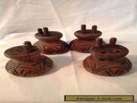 Antique Lot Of 4 Wood Furniture Feet / Legs
