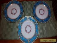 SET OF THREE BEAUTIFUL MINTON LUNCH PLATES 9 1/4""