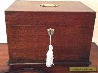 antique oak jewellery box