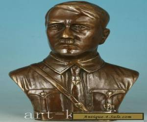 Delicate Chinese Old Bronze Hand Carved Germany president Hitler Statue Figure for Sale