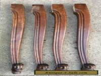 SET OF 4 OAK CABRIOLET STYLE TABLE LEGS FOR YOUR PROJECT