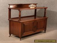 Antique Cabinet Buffet Server Sideboard Quality Mahogany Victorian English c1870