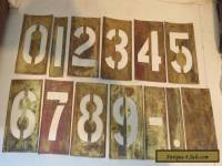 "ANTIQUE BRASS NUMBER TEMPLATES, 4"" TALL NUMBERS."
