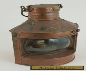 Tung Woo Starboard Lamp Lantern Brass & Copper (ST3) for Sale