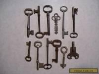 12-Vintage Skeleton, Cabinet and Misc. Keys