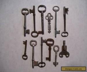 12-Vintage Skeleton, Cabinet and Misc. Keys for Sale