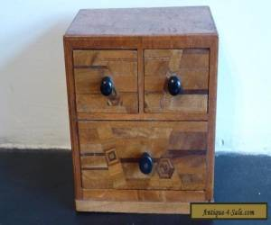 Vintage/Antique small Wooden Chest Of  Drawers  Apprentice Marquetry Piece. for Sale