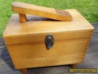 Antique1950s shoe cleaning box beech wood retro