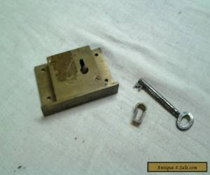 Vintage 1915 brass lock with key, chest,cabinet,box for Sale