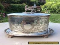 Antique Silver plated biscuit barrel box hukin Heath