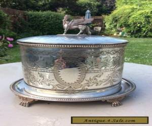 Antique Silver plated biscuit barrel box hukin Heath for Sale