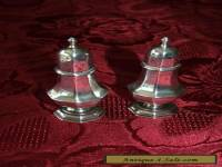 Pair of Hallmarked Silver Salt and Pepper Pots