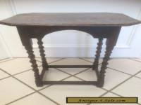 ANTIQUE VINTAGE ENGLISH JACOBEAN STYLE OAK BARLEY TWIST SMALL TEA WINE END TABLE