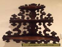 Beautiful Antique edwardian wooden corner wall brackets 38cm widex79cm tall