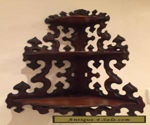 Beautiful Antique edwardian wooden corner wall brackets 38cm widex79cm tall for Sale