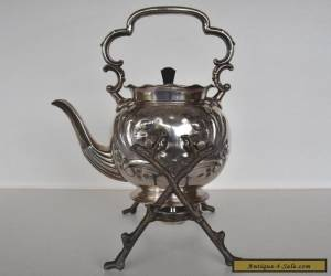 Antique English Silver Plated Spirit Kettle by Arthur E. Furniss for Sale