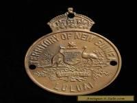 Native New Guinea Patrol Officer brass Badge LULUAI 1960s