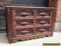 Antique Victorian Late 1800's Solid Walnut Dresser,Chest of Drawers
