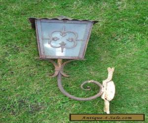 Vintage Antique Wall Mounted Outside Light Lamp for Restoration for Sale