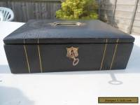 Antique Faux Leather Writing Box