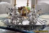 Birmingham Silver Co Silverplate On Copper 5 Pc. Tea/ Coffee Service Set /w Tray for Sale