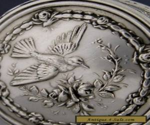 BEAUTIFUL FRENCH SILVER PILL BOX c1900 ANTIQUE for Sale