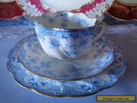 Antique English China Trio By (W.A.A.) Adderley, **Nice** Pattern Exquisite Cond