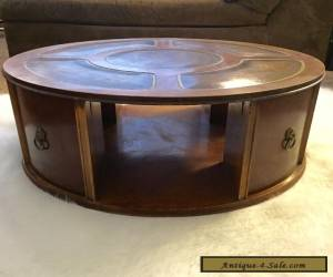 Imperial Mid century Mahogany Coffee Drum Table Duncan Phyfe Reproduction for Sale