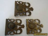 3 x Antique ? Victorian/ French lock catches....no keep or keys.