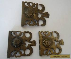 3 x Antique ? Victorian/ French lock catches....no keep or keys. for Sale