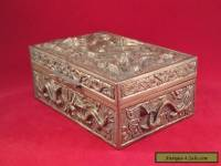 ANTIQUE CHINESE HEAVY BRASS DRAGON BOX